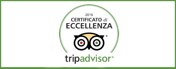 Il B&B Villa Liberty premiato con il Certificato di Eccellenza TripAdvisor 2016